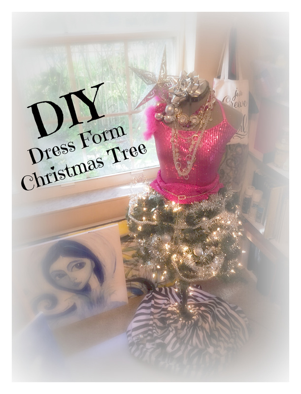 Diy: DRESS FORM Christmas Tree